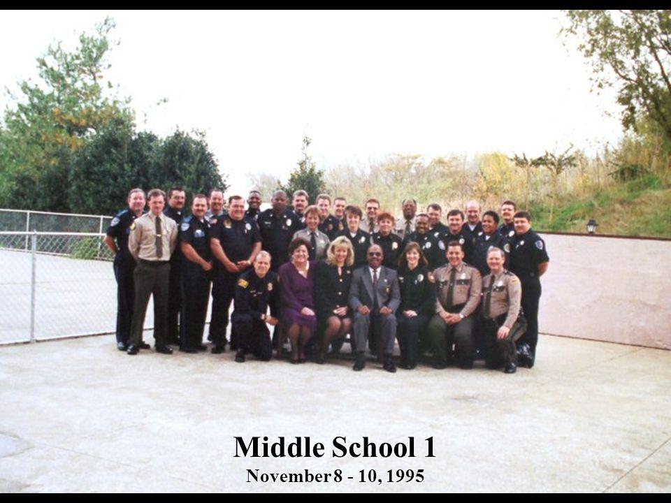 Middle School 1 November 8 - 10, 1995