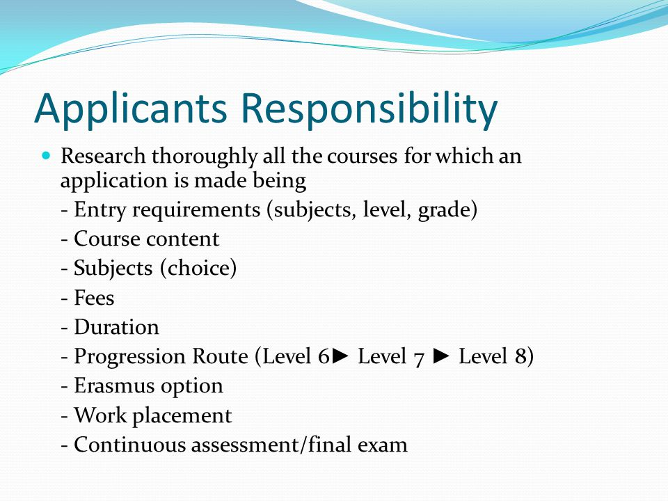 How places are allocated When Leaving Cert results are released in August they are entered into the CAO computer system For each course the applicant has applied for, the computer will firstly determine if the applicant has the minimum entry requirements for the course If the applicant meets the minimum entry requirements for the course, then the applicants points are calculated for the coursed.