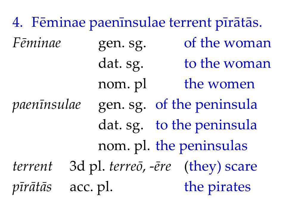4.Fēminae paenīnsulae terrent pīrātās. Fēminaegen.