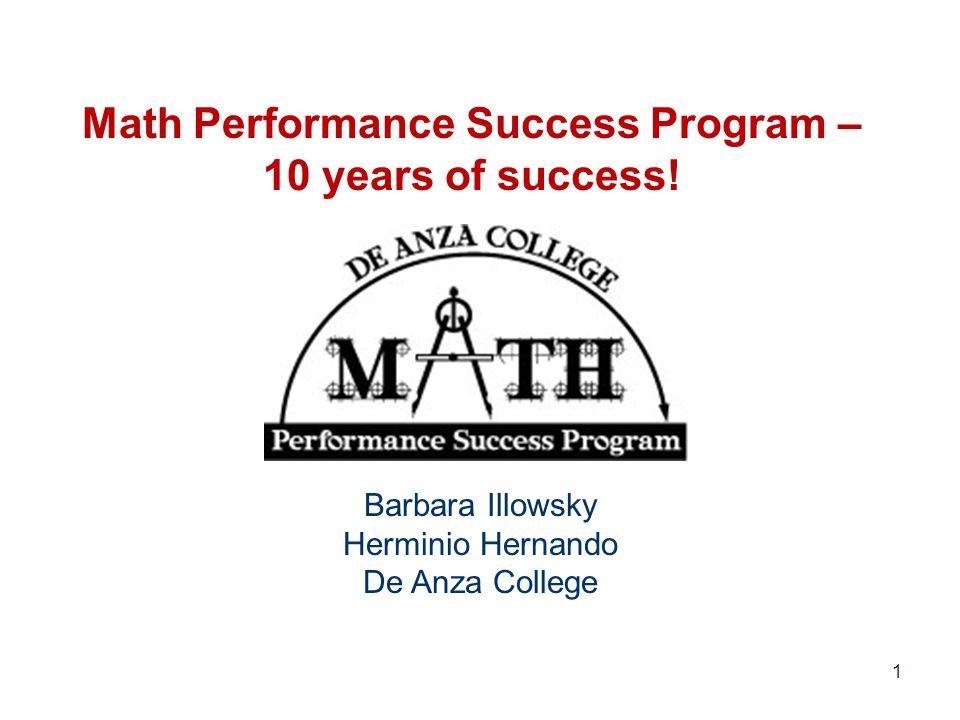 Math Performance Success Program – 10 years of success.