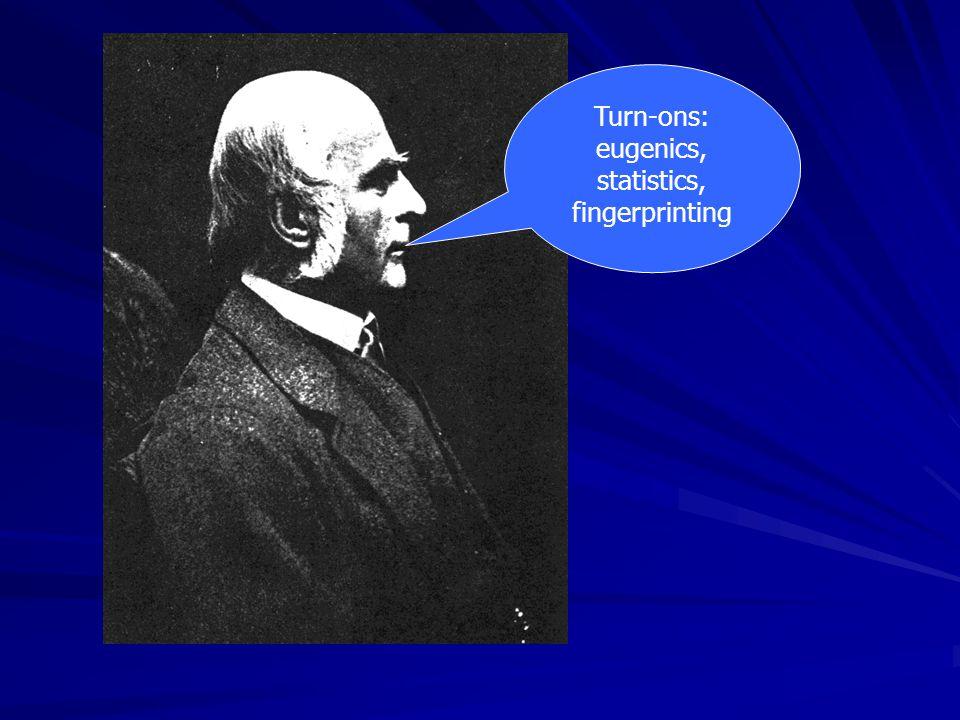Turn-ons: eugenics, statistics, fingerprinting