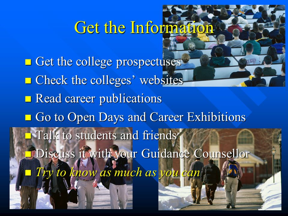 Restricted Applications Some courses consider more than just points Some courses consider more than just points Interviews, tests, auditions, portfolios or projects Interviews, tests, auditions, portfolios or projects These are conducted around Easter These are conducted around Easter These courses can't be added to your application after February 1 st These courses can't be added to your application after February 1 st They can be changed or dropped They can be changed or dropped