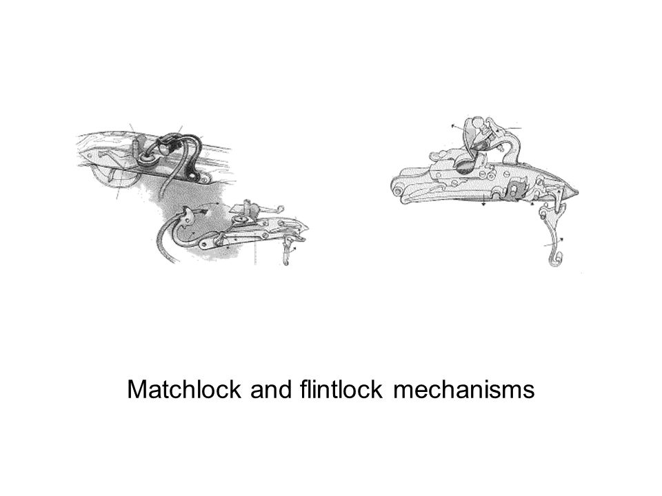 Matchlock and flintlock mechanisms