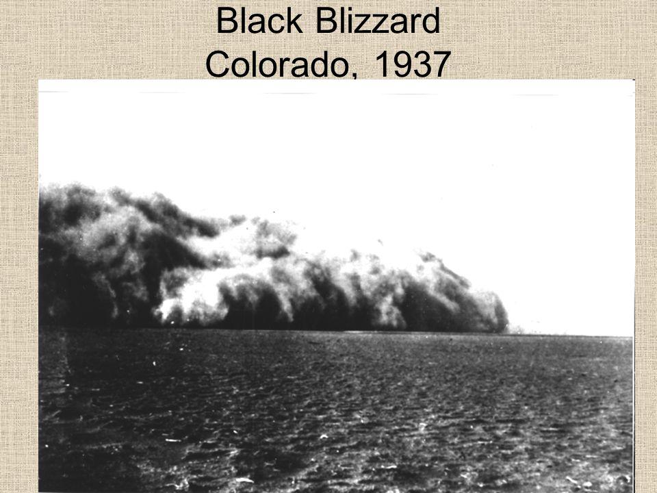 Black Blizzard Colorado, 1937