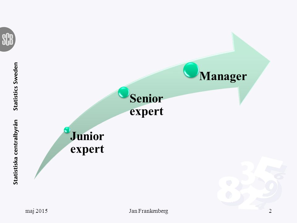 Junior expert Senior expert Manager maj 20152Jan Frankenberg