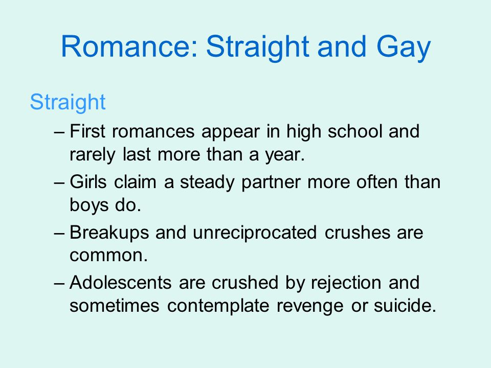 Gay –Many do not acknowledge their sexual orientation.