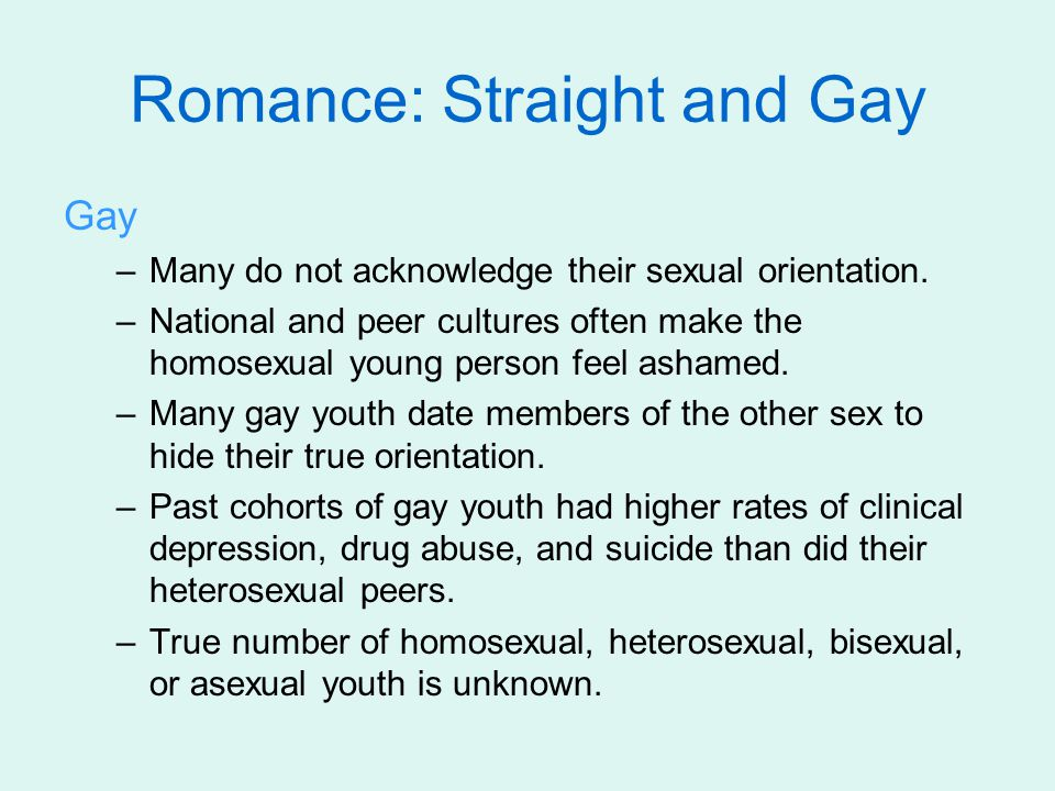 Sex Education Learning from peers: –Adolescent sexual behavior is strongly influenced by peers.