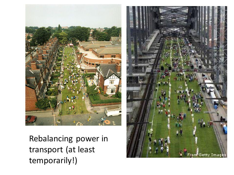 Rebalancing power in transport (at least temporarily!)