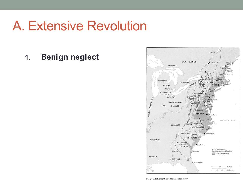 A. Extensive Revolution 1. Benign neglect