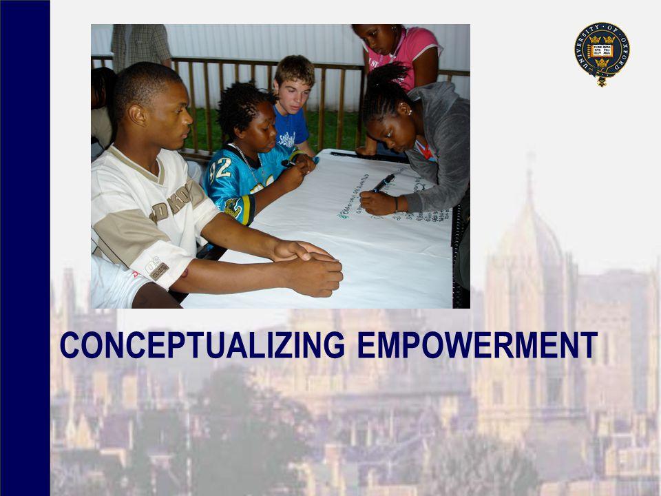 CONCEPTUALIZING EMPOWERMENT