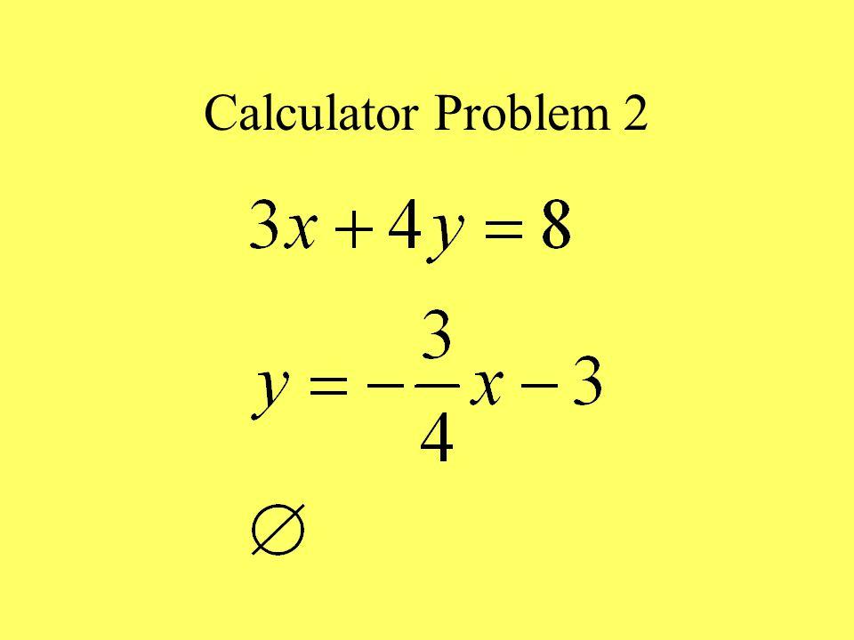Calculator Problem 2
