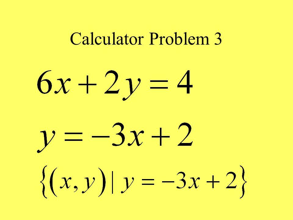 Calculator Problem 3