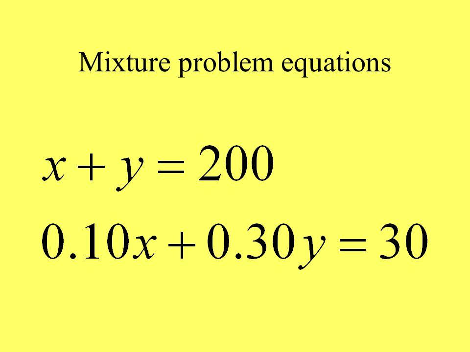 Mixture problem equations
