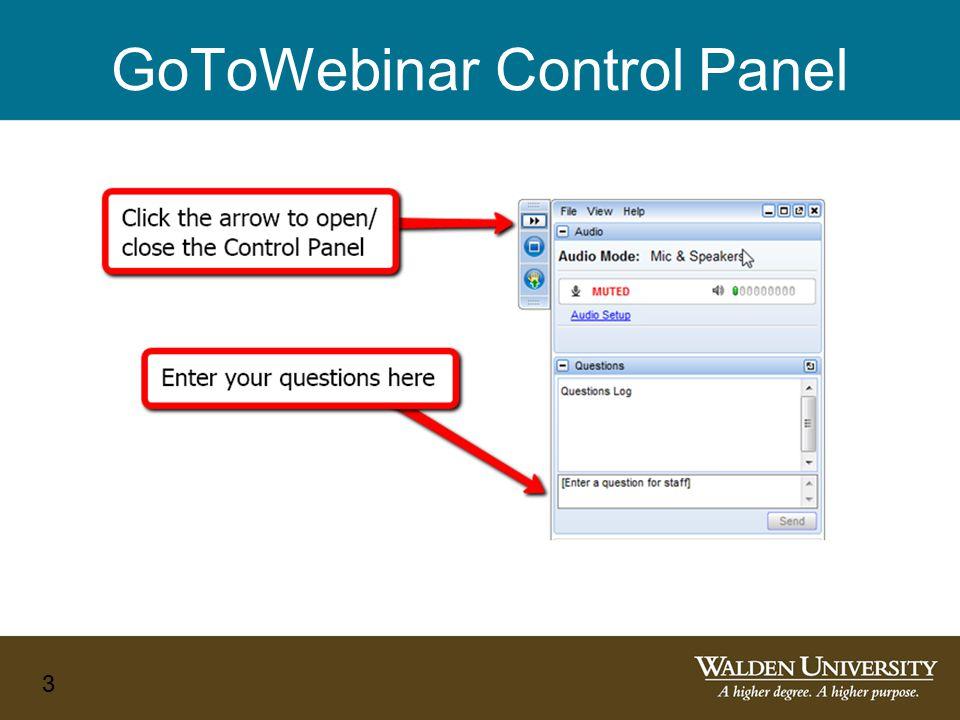 GoToWebinar Control Panel 3