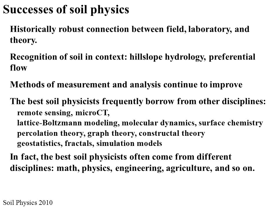 Historically robust connection between field, laboratory, and theory.