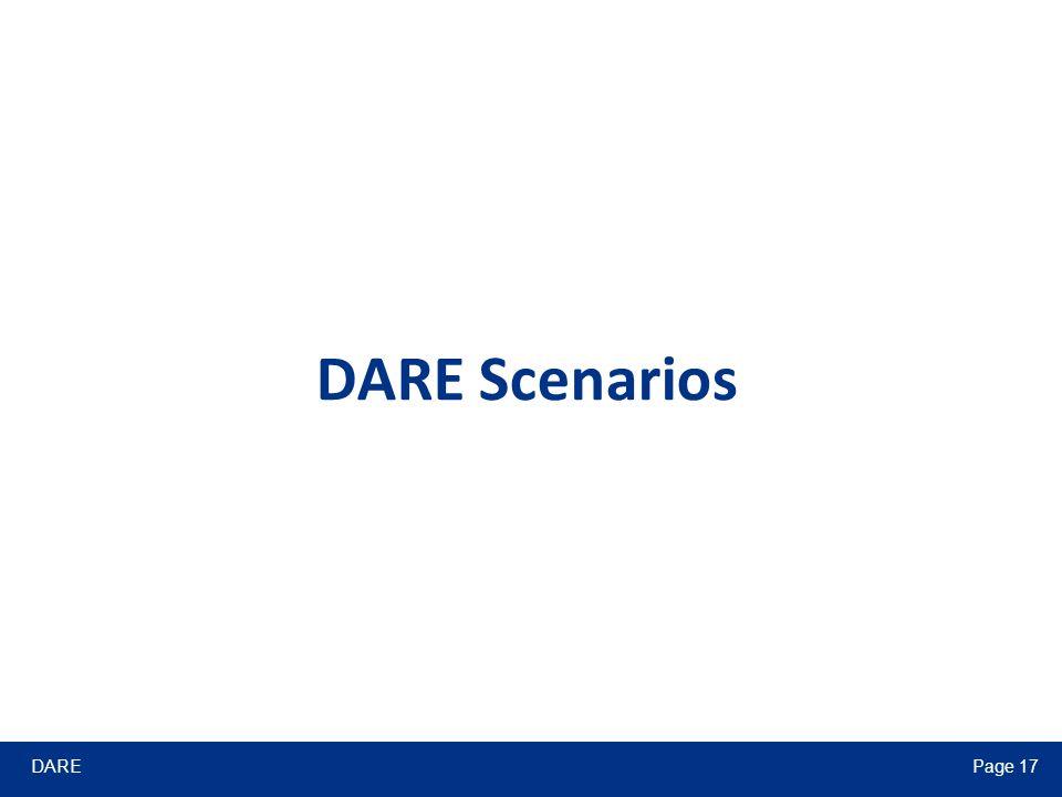 DAREPage 17 DARE Scenarios
