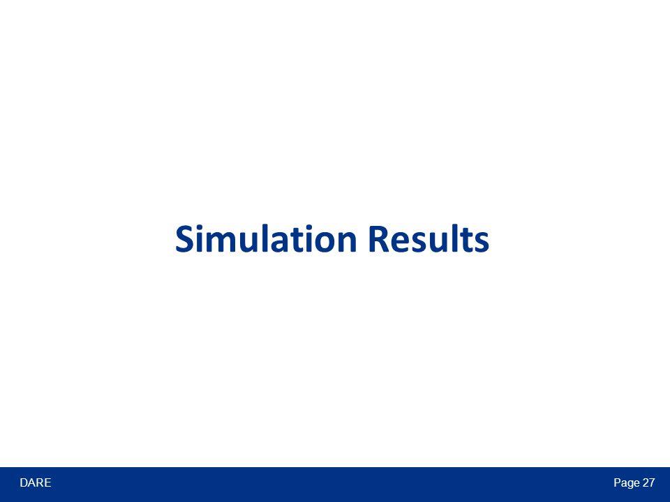 DAREPage 27 Simulation Results