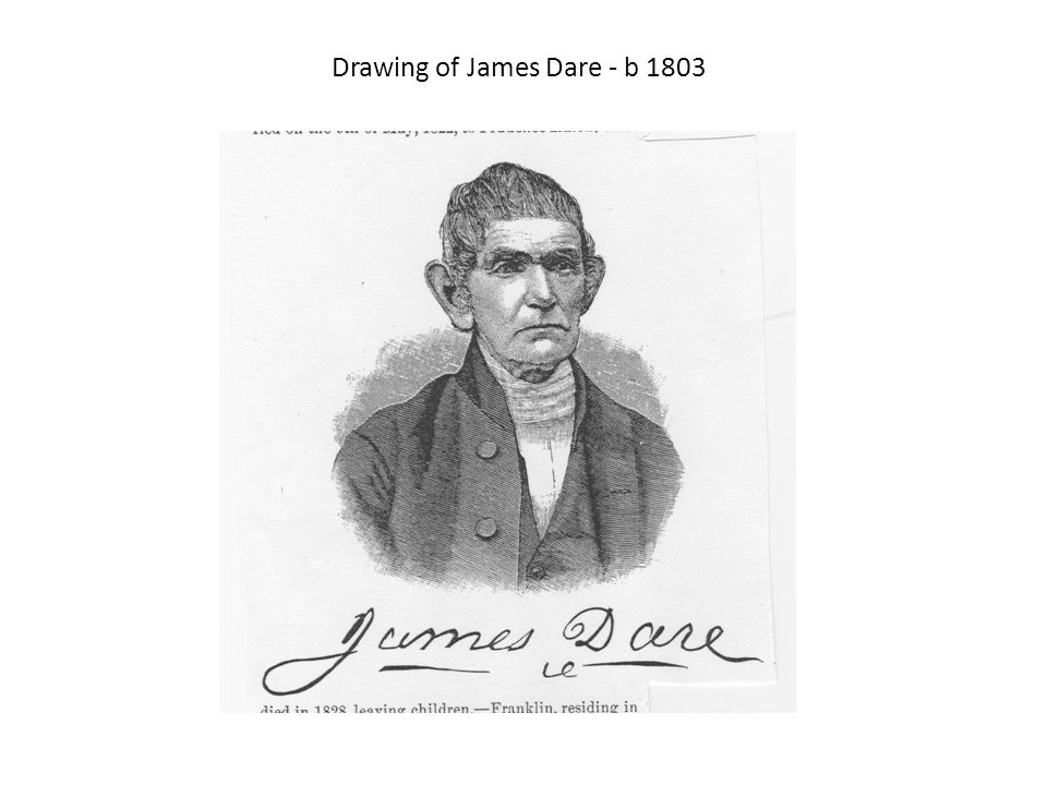 Drawing of James Dare - b 1803