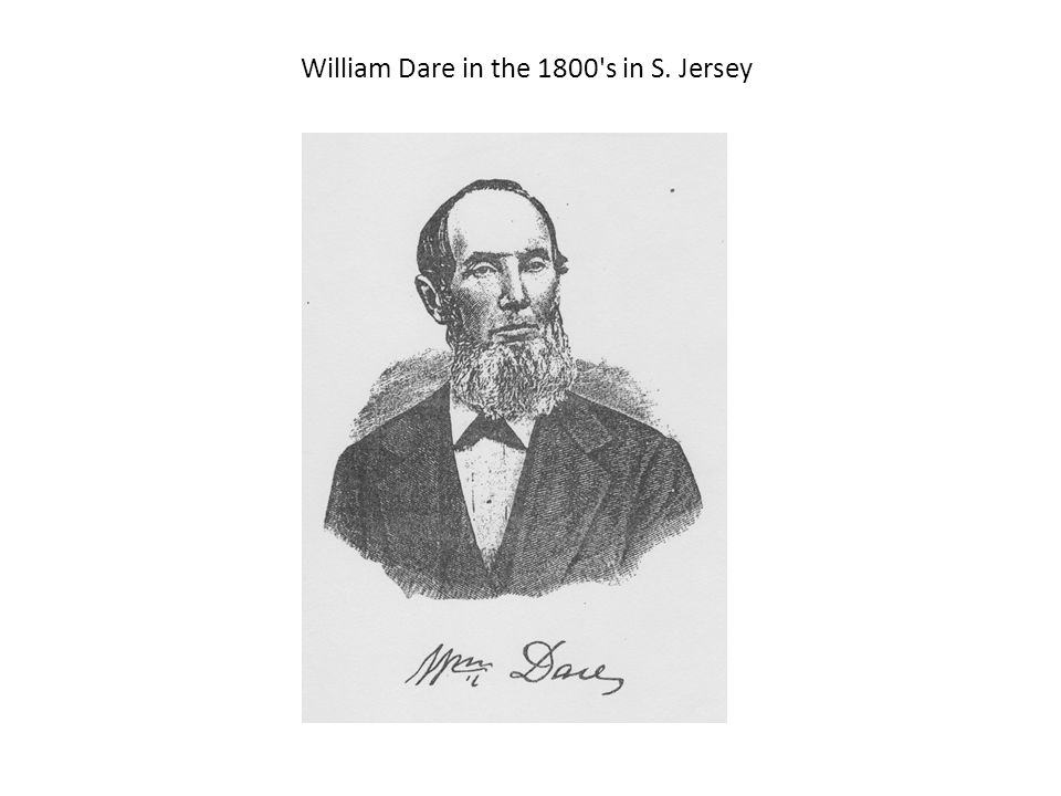 William Dare in the 1800 s in S. Jersey