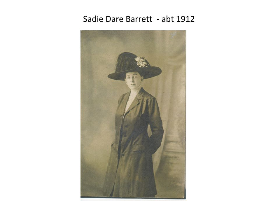 Sadie Dare Barrett - abt 1912