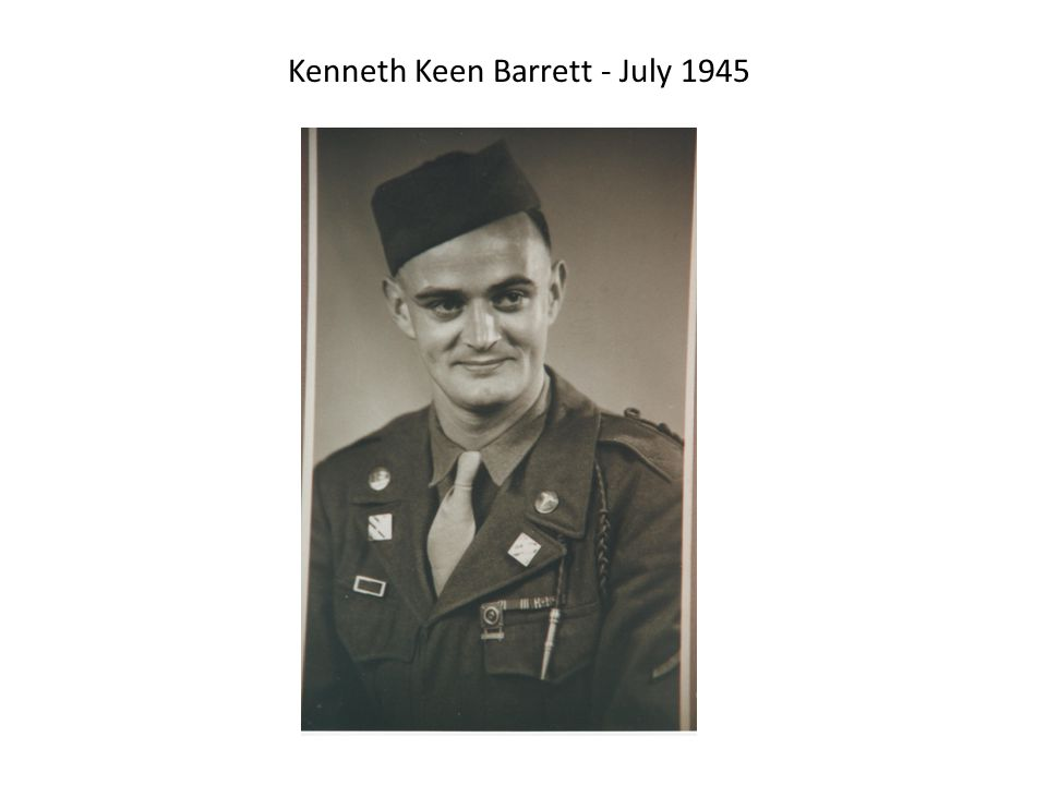 Kenneth Keen Barrett - July 1945
