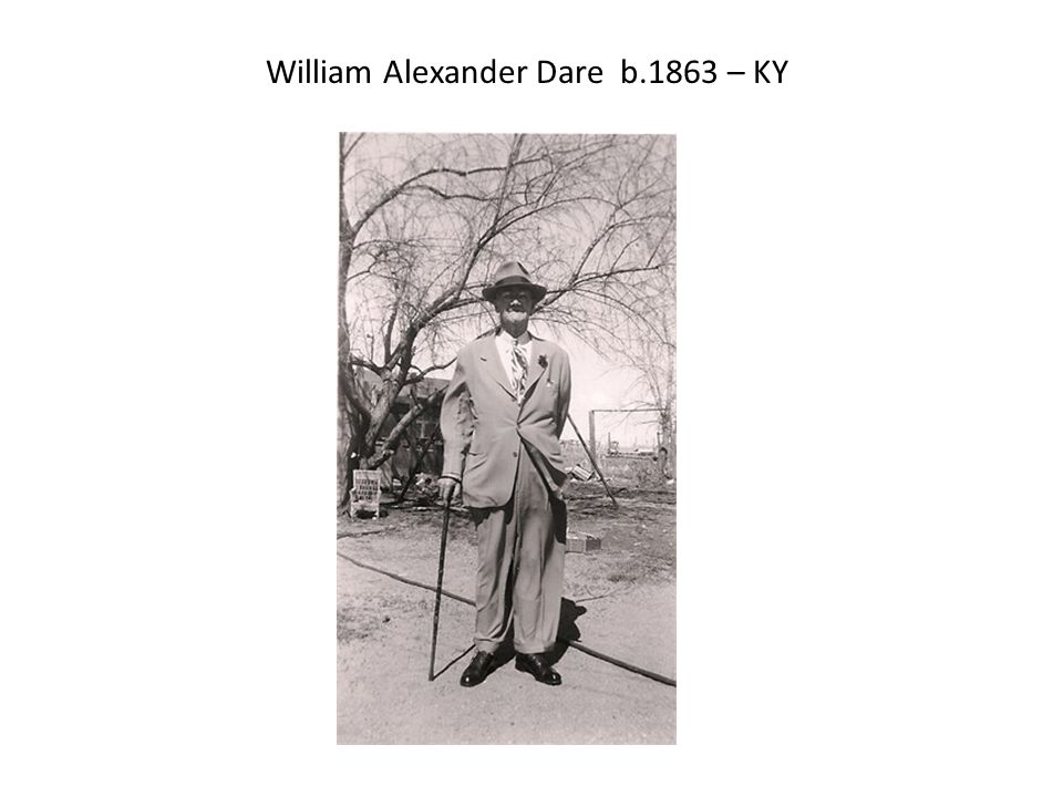 William Alexander Dare b.1863 – KY