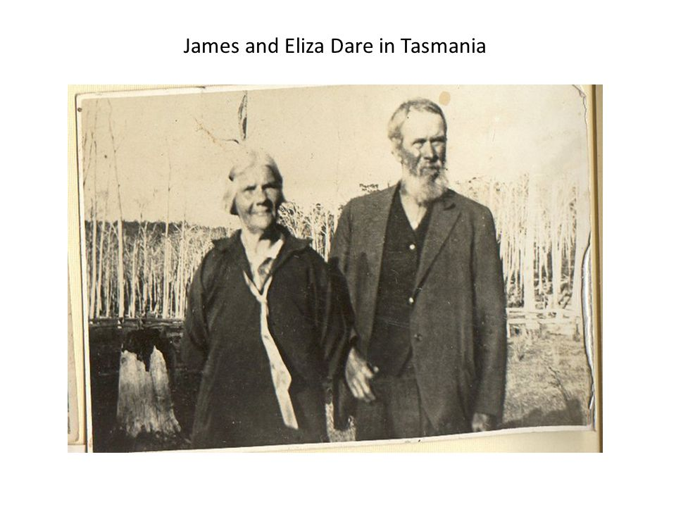 James and Eliza Dare in Tasmania