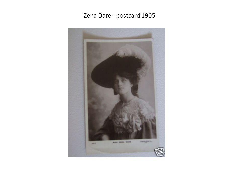 Zena Dare - postcard 1905