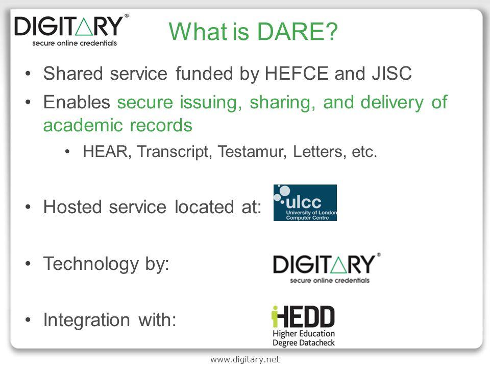 www.digitary.net What is DARE.