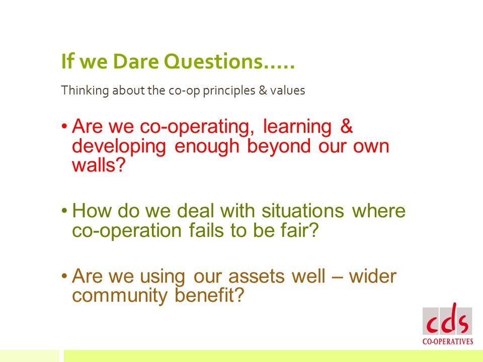 If we Dare Questions.....