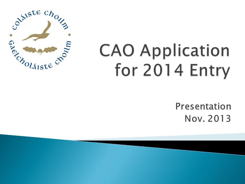 Presentation Nov. 2013