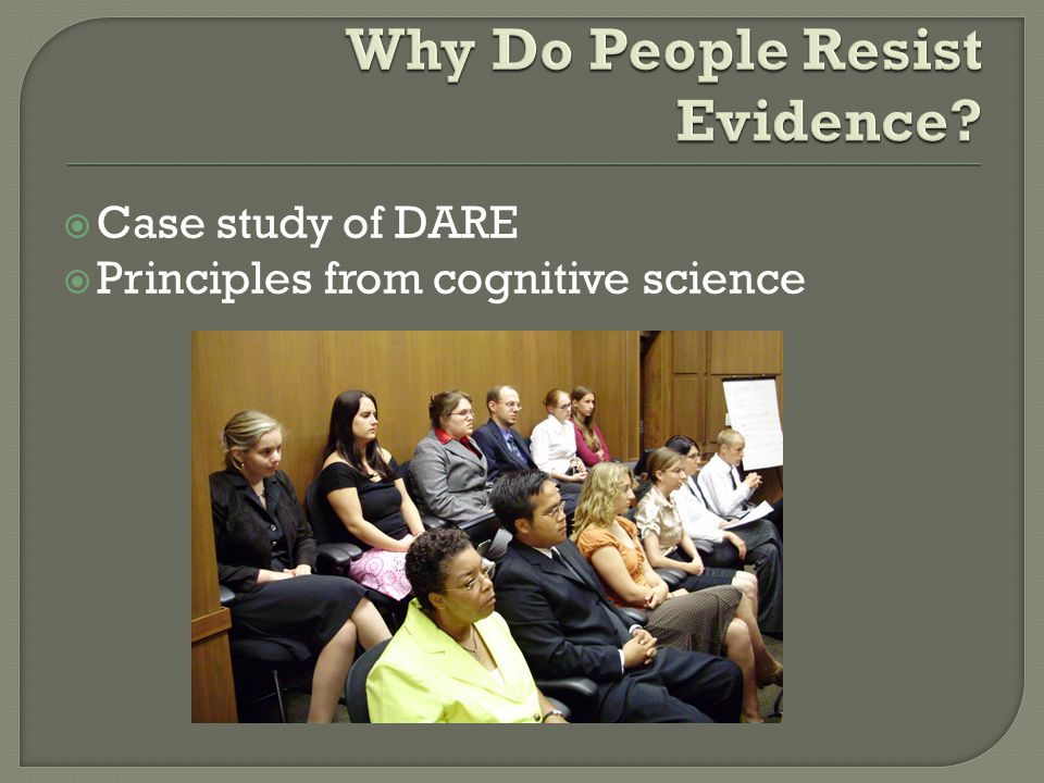 Case study of DARE  Principles from cognitive science