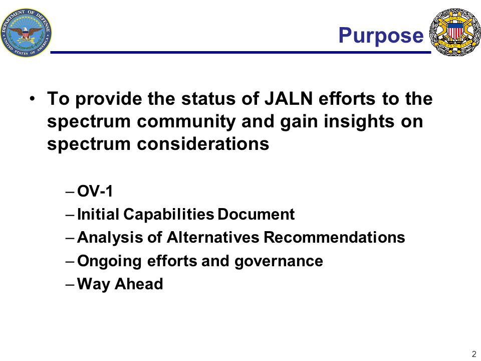 3 JALN Operational View 3 UNCLASSIFIED