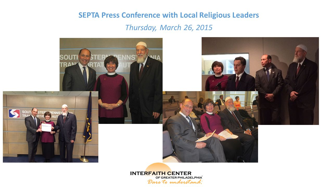 SEPTA Press Conference with Local Religious Leaders Thursday, March 26, 2015
