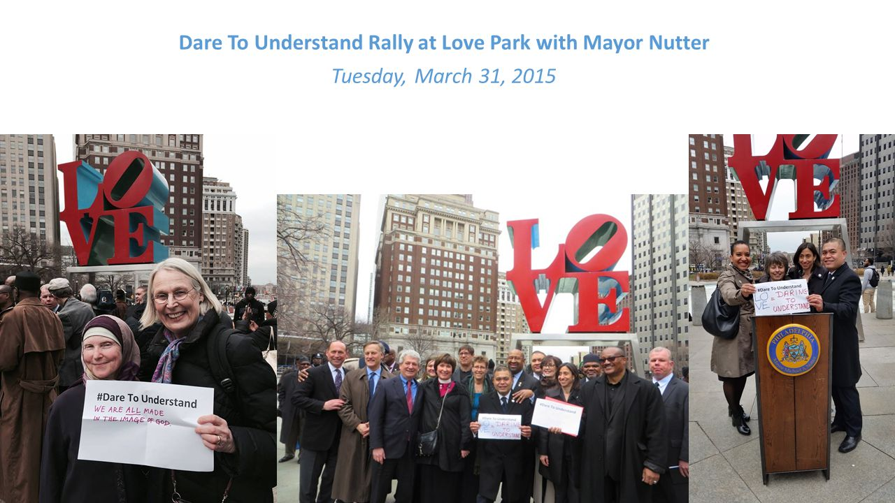 Dare To Understand Rally at Love Park with Mayor Nutter Tuesday, March 31, 2015