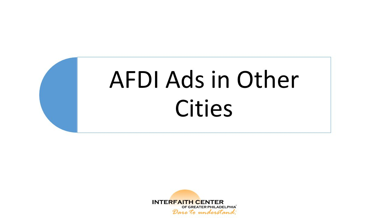 AFDI Ads in Other Cities