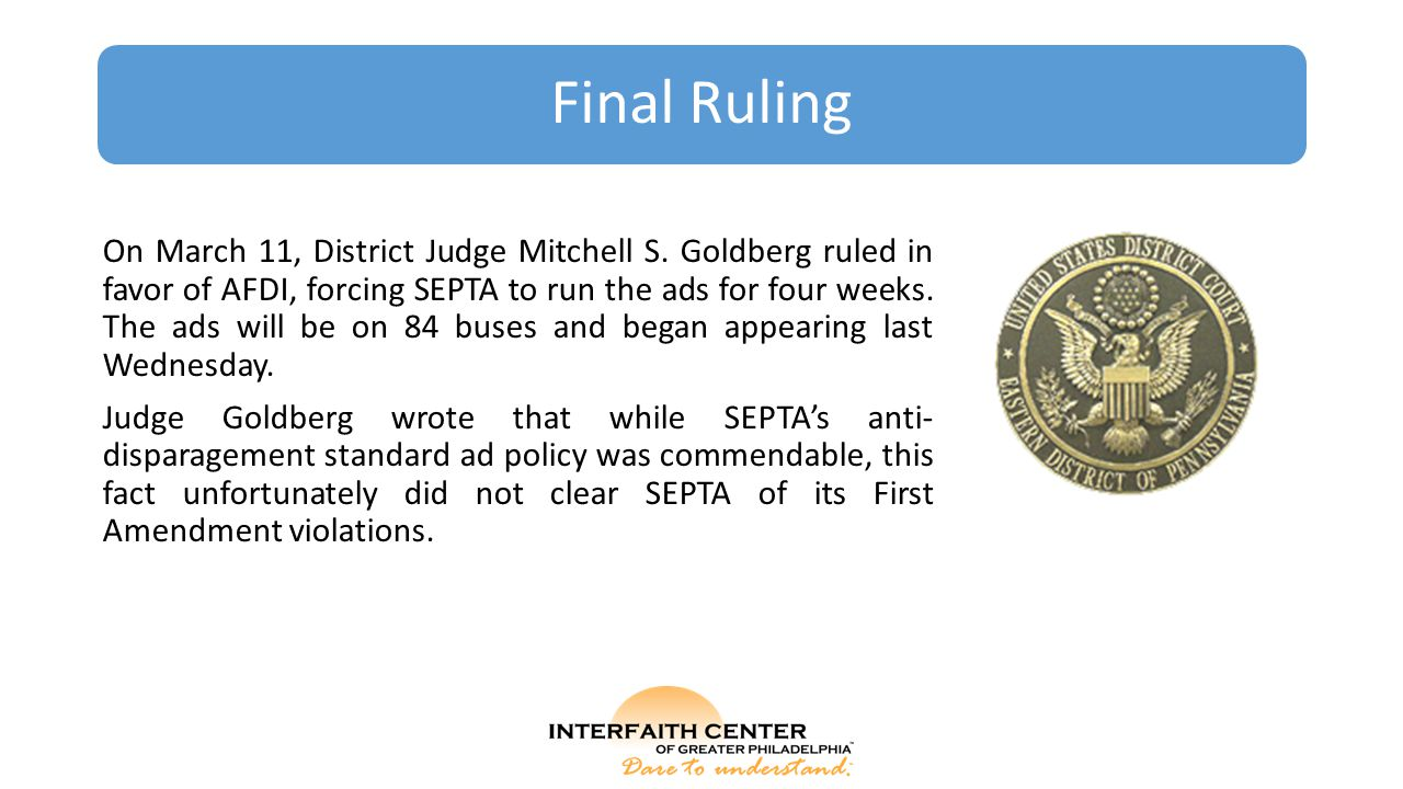 Final Ruling On March 11, District Judge Mitchell S.