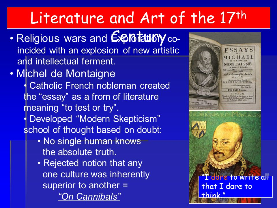 montaigne essays on cannibals summary Summary: essay discusses an excerpt of the article of the cannibals by michel eyquem de montaigne the article of the cannibals from michel eyquem de montaigne speaks about two major problems the first one is the problem of men telling stories subjectively instead of objectively this problem.