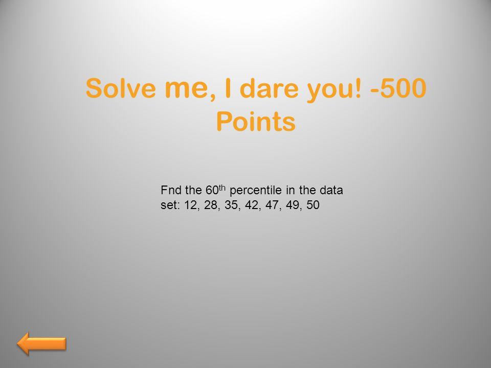 Solve me, I dare you.