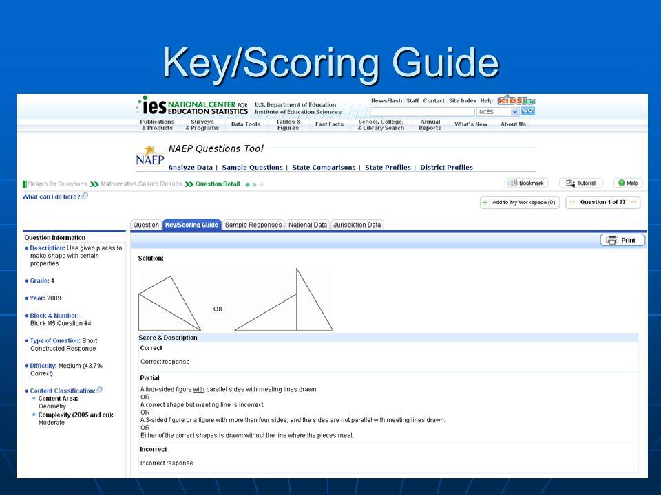 Key/Scoring Guide