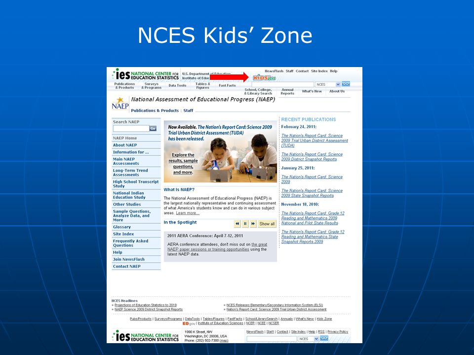NCES Kids' Zone