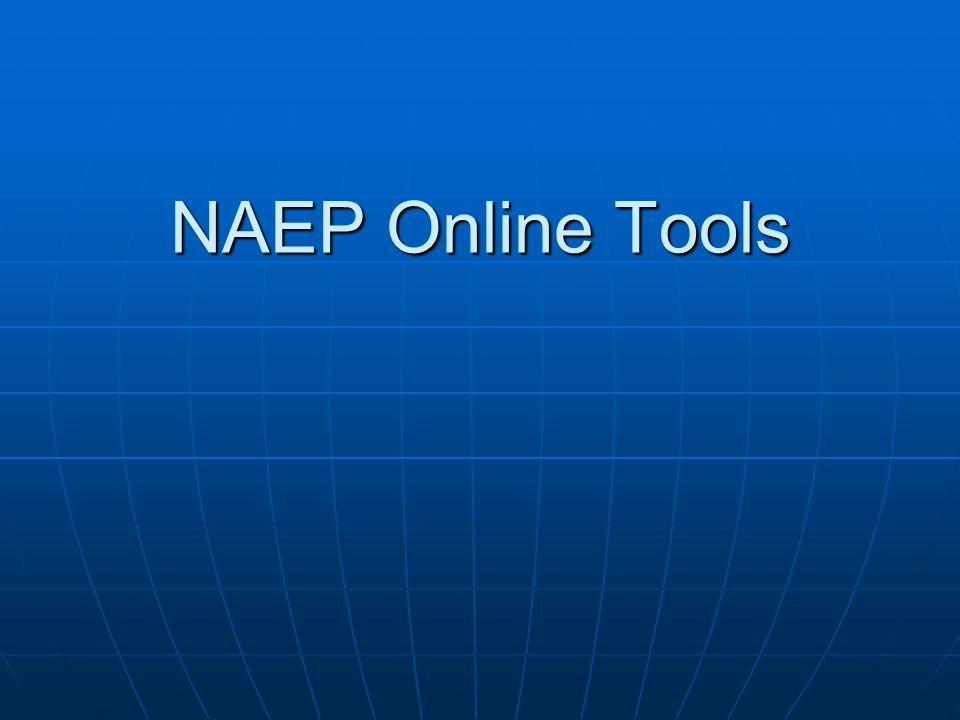 NAEP Online Tools