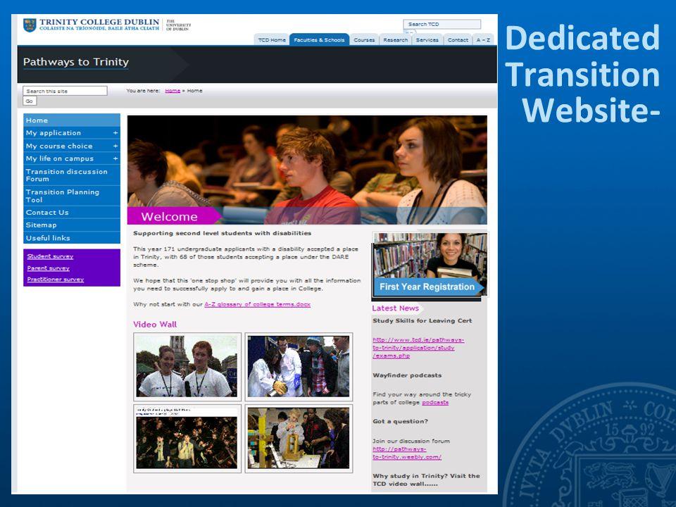 Dedicated Transition Website-