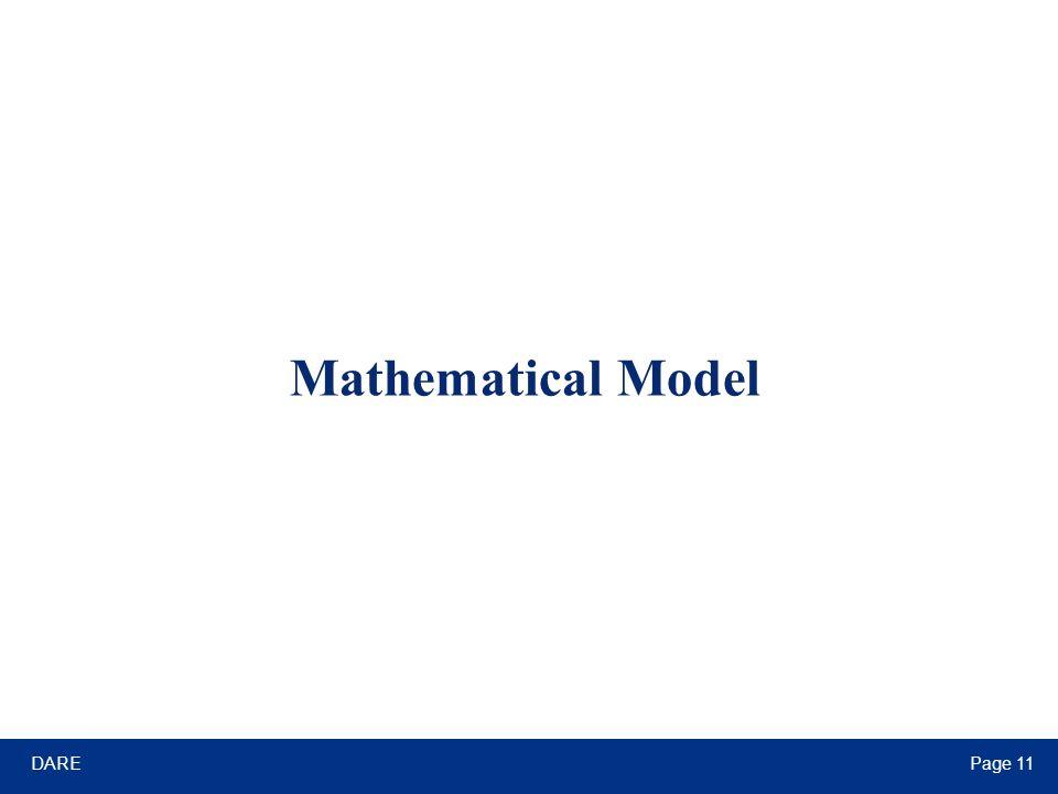 DAREPage 11 Mathematical Model