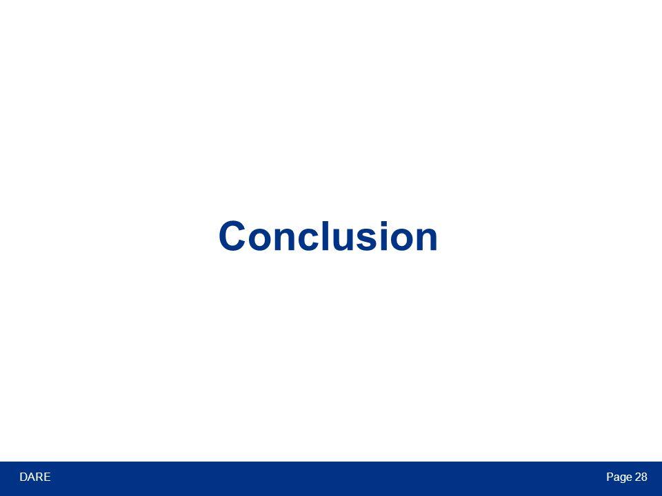 DAREPage 28 Conclusion