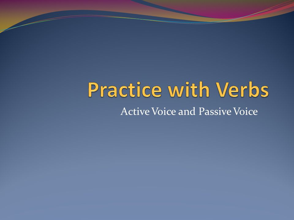 Write a synopsis in the active voice in the present, imperfect and future tenses only for the following verbs.