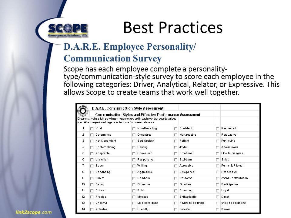 Best Practices D.A.R.E.