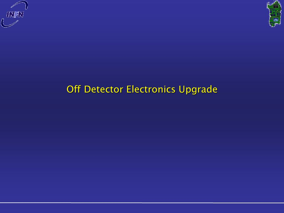 Off Detector Electronics Upgrade