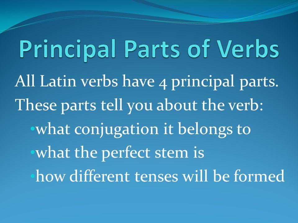 All Latin verbs have 4 principal parts.