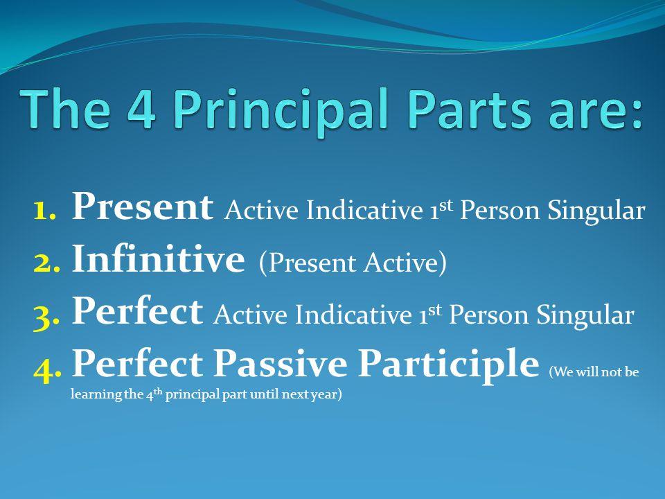 1. Present Active Indicative 1 st Person Singular 2.